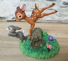 "Disney Figurine, Bambi And Thumper 2"" Tall ENESCO"