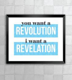 Hamilton – You Want A Revolution – Song Lyric Quote 8x10 11x14 Typography Wall Art Print