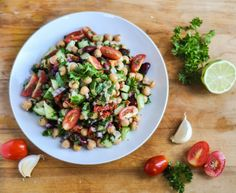 Chickpea, Red Bean and Herb Salad –