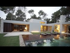 Casa El Bosque is a house flanked with stone walls facing a Spanish forest - YouTube