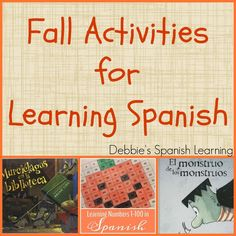 {Affiliate links used.}     With autumn approaching soon I thought I would consolidate all my posts of learning activities in Spanish rel...
