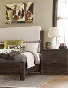 King & Main Collection Canadian made quality Solid Wood Bedroom suite from Durham Furniture Solid Wood Furniture, Fine Furniture, Durham Furniture, American Made, Nightstand, Drawers, Wood Bedroom, House, King