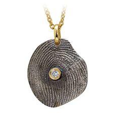 Pırlanta 18 Ayar Altın Parmak İzi Kolye Mirelle, özel tasarım kolye, parmak izi koleksiyonu, hediye kolye