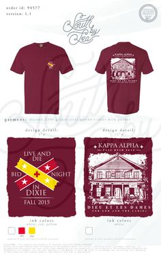 Kappa Alpha | Kappa Alpha Fraternity | Kappa Alpha Bid Night | Live and Die in Dixie | South by Sea | Fraternity Shirts | Fraternity Tanks | Greek Shirts
