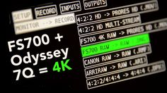 FS700 4K + Odyssey 7Q + Cameraman for hire, UK & abroad! http://www.sonyfs700rental.co.uk