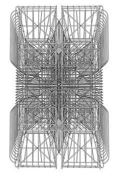 Virginia Billeaud Anderson To help viewers understand Argentine artist Pablo Siquier 's steel sculpture and related drawings, exhibited th. Black And White Canvas, Steel Sculpture, Charcoal Drawing, Sacred Geometry, Pattern Art, Contemporary Artists, Painting & Drawing, Art Gallery, Architecture