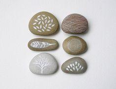 Beautiful handpainted stones by Natasha Newton on Etsy