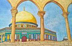Painting scenes from Middle East
