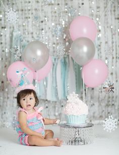 Windsor Cake Smash Photographer ~ Belen's Winter Wonderland Cake ...