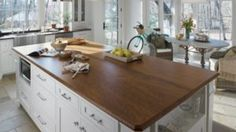 Redesigning Your Kitchen Area: Choosing Your New Kitchen Counter Tops – Outdoor Kitchen Designs Outdoor Kitchen Countertops, Formica Countertops, Walnut Countertop, White Countertops, Painted Countertops, Copper Counter, Cement Counter, Kitchen Worktops, Quartz Counter