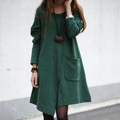 Asymmetric Hem A-Line Dress from #YesStyle <3 Ringnor YesStyle.com