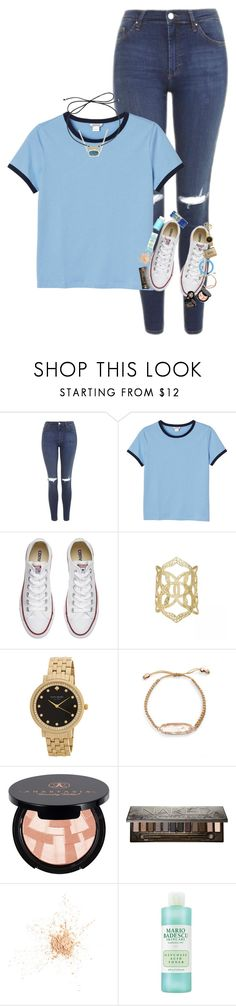 """I miss having funny conversations"" by supremegrier ❤ liked on Polyvore featuring Topshop, Monki, Converse, Kendra Scott, Kate Spade, Anastasia Beverly Hills, Urban Decay and Eve Lom"