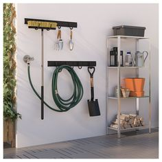 """BRANDUR Hook, in-/outdoor, black, Depth: 6 ¾"""" Maximum load/hook: 44 lb. Suitable for both indoor and outdoor use. This generous hook is durable, easy to clean and protected from rust since it is made of powder-coated galvanized steel. Garage Organisation, Diy Garage Storage, Diy Organization, Garage Hooks, Garage Shelving, Garage Gym, Storage Room, Ikea Mulig, Console"""