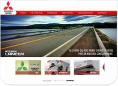 On the road with Mitsubishi website on #joomla CMS