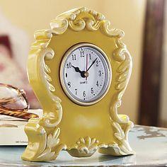 Yellow Boho Clock