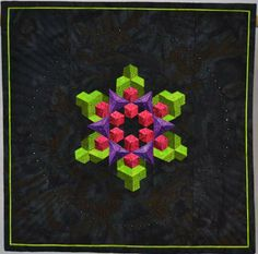 Bountiful Blessings by Cathy Sperry, miniature quilt, 42nd Annual NQA Quilt Show Awards (Ohio)