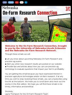 Check the Nebraska On-Farm Research Network!