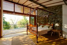 Eco-Friendly Country Home I Aldona, Goa Master Bedroom #Property #Luxury #Homes #Goa #Vacation home #Saffronart.com properties@saffronart.com