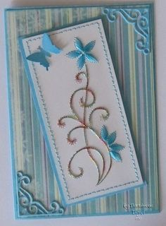 Hand Made Greeting Cards, Making Greeting Cards, Embroidered Paper, Embroidery Cards, Sewing Cards, Thread Art, Card Making Techniques, Card Patterns, Card Making Inspiration