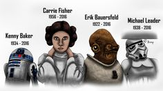 After hearing about the passing of Carrie Fisher, I decided to make a small tribute to not just for her but also the other Star Wars actors that tragically lost their lives this year. I'm not the b...