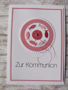 Kommunionkarte von Mein Kartengarten auf DaWanda.com