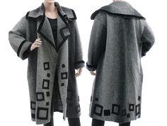 Handmade coat, boiled wool