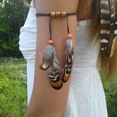 Cute feather armbands available in my etsy shop. Many styles to choose from. Dieselboutique.etsy. com  #armband #armcuff #armcandy #bohochic #bohostyle #adventure #pocahontas #tribal #bohojewelry #boho #bohemian #gypsy #festivalfashion #feathers #edc #hippiestyle #hippiespirits  #goodvibes #hippie #costume #elven #highsociety #fantasy #cosplay #archer #medievil #festival #renaissance #featherarmband #plur
