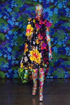 Richard Quinn Spring/Summer 2018 Ready To Wear | British Vogue; This piece is a fantastic representation of all the must have S2018 colors!