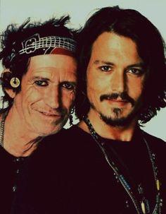 With Keith Richards Jack Sparrow, Keith Richards, Johnny Depp Images, Here's Johnny, Johny Depp, Film Disney, Wolf Love, Captain Jack, Friend Photos