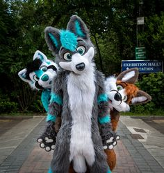 Cosmic and his friends! photo credits needed, fursuits made by PhoenixWolf