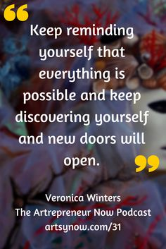"""""""Keep reminding yourself that everything is possible and keep discovering yourself and new doors will open.""""-Veronica Winters ❤ Visit: https://itunes.apple.com/us/app/bellavita4life-how-to-achieve/id912209850?mt=8 @bellavita_4life ❤"""