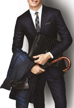 Burberry....nothing like a well tailored suit!