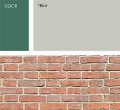 house exterior colors that go with orange brick Orange Brick Houses, Brick House Colors, House Color Schemes, Exterior Paint Colors, Exterior House Colors, Paint Colors For Home, Paint Colours, Fixer Upper, Shutter Colors