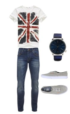 """For my boyfriend :-)"" by zanna4 ❤ liked on Polyvore featuring Scotch & Soda, Vans, Komono, men's fashion and menswear"