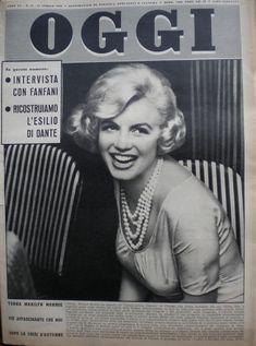 OGGI magazine 1959. Front cover photo of Marilyn Monroe.