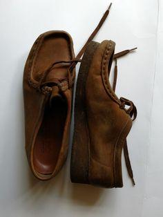 5dbc1c3c5c9c Clarks Original Wallabee Brown 7M Leather Upper Casual Women s Shoe  Comfortable