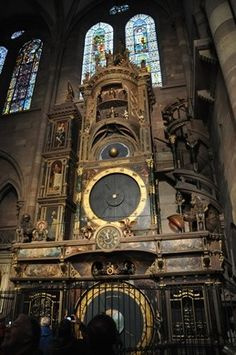 There has been as astronomical clock on this spot since the 14th century - Strasbourg