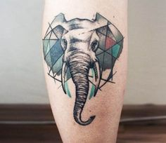Elephant tattoo by Olga Sienkiewicz