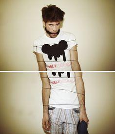 Image of MELT MOUSE T Shirts For Women, Shopping, Image, Tops, Fashion, Moda, Fashion Styles, Shell Tops, Fashion Illustrations