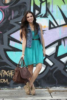 Daniela R. - Graffiti and pleats!