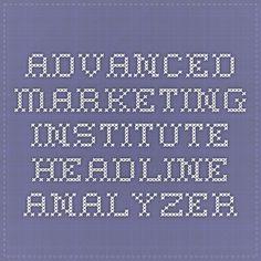 Advanced Marketing Institute - Headline Analyzer
