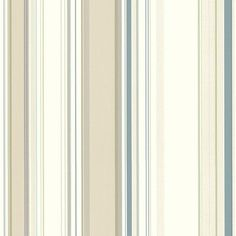 """Brewster Home Fashions Chesapeake Stripes Cape Elizabeth Lookout 33' x 20.5"""" Stripes 3D Embossed Wallpaper Color:"""