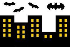 картинка город ночью бэтмен для торта левой