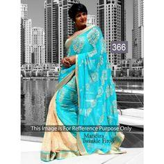 Mandira Twinkel Firoji Chiffon 60gm Georgette Bollywood Dress