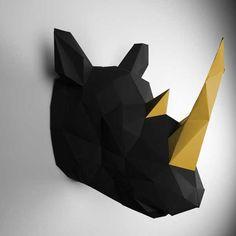 Papertrophy. Modernos trofeos de animales, de papel.   Mil Ideas de Decoración