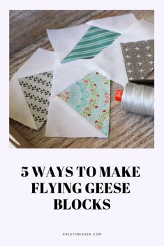 How to make flying geese quilt blocks 5 ways Here are five common methods of making a flying geese block. and I put them through their paces constructing a x finished flying geese unit. This particular thing is seriously a noteworthy design philosophy. Circle Quilt Patterns, Circle Quilts, Quilt Patterns Free, Pattern Blocks, Quilt Blocks, Quilt Boarders, Quilt Kits, Quilt Top, Square Quilt