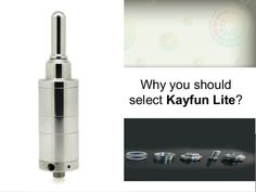 n recent days we can notice the users of tobacco are diverting into electronic cigarette because this cigarette has less harm as like tobacco can harm our body. This electronic cigarette has different advantages for its users specially the Kayfun Light have different features which can bring the satisfaction for the users of this product.