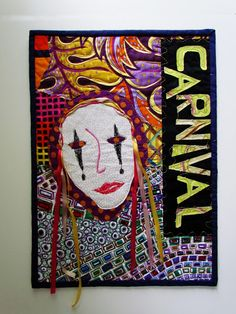 Carnaval: an art quilt by Marty Mason