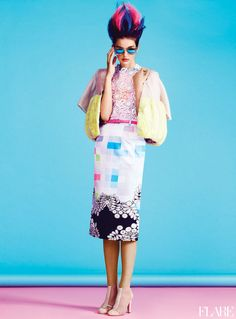 Mad About Hue - May 2012 / Fashion Director: Elizabeth Cabral / Photographer: Max Abadian