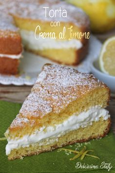 Torta con Crema al Limone